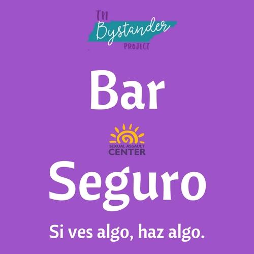 Safe Bar Logo - Spanish